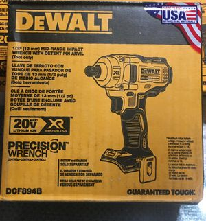 DEWALT 20-Volt MAX XR Lithium-Ion Brushless Cordless 1/2 in. Impact Wrench with Detent Pin Anvil (Tool-Only) for Sale in Los Angeles, CA