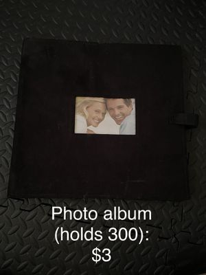 Black suede photo album (holds 300 photos) for Sale in Ann Arbor, MI