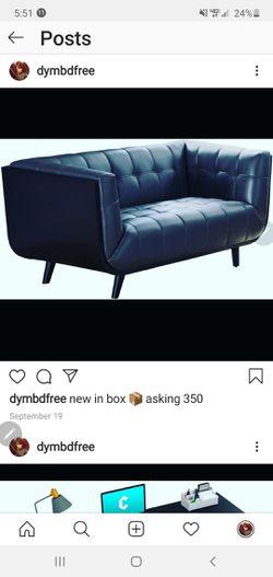 black n grey leatherette sofa for Sale in Verona,  PA