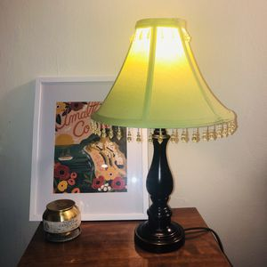 Lamp with a green beaded shade for Sale in Boston, MA