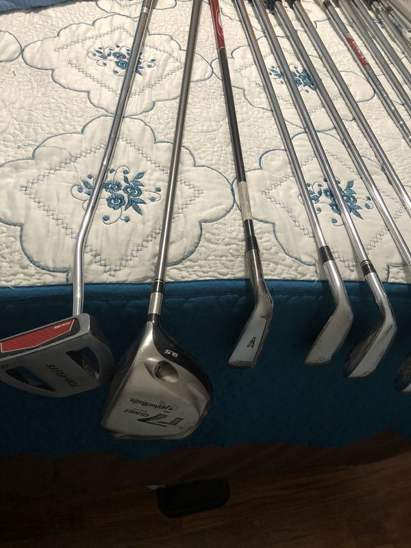Taylormade RAC CGB set w/ driver & 3 hybrid, gap wedge and putter Golf