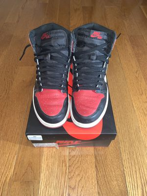 Air Jordan 1 Bred Toe size 10.5 100% Authentic for Sale in Hyattsville, MD