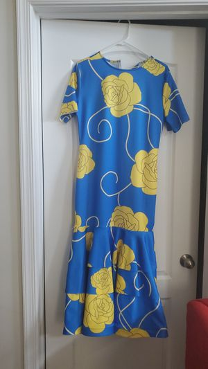 Elegant blue and yellow maxi dress for Sale in Bowie, MD