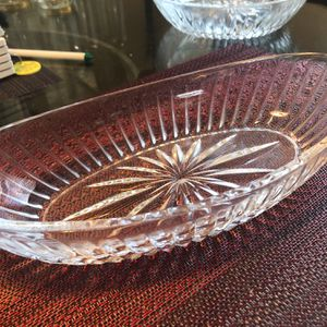 Vintage Princess House Oval Lead Crystal Serving Dish, Snack Dish for Sale in Clearwater, FL