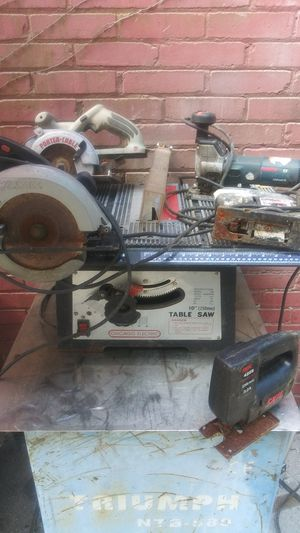 Jig saws/ circular saw/table saw for Sale in Pittsburgh, PA