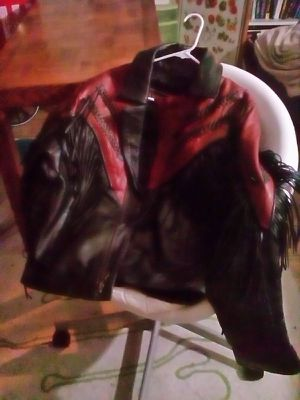 Fringed leather motorcycle jacket for Sale in Columbus, OH