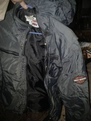 Motorcycle apparel many coats, jackets, chaps. Harley Davidson brand and others. for Sale in Berea, OH