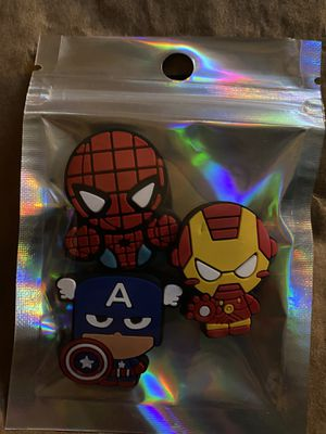 Jibbitz For Crocs - Spider-Man, Captain America, Iron Man for Sale in San Diego, CA