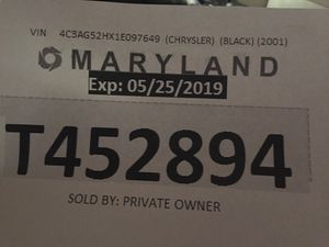 Maryland temp tags for Sale in Washington, DC
