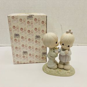 Vintage Adorable Precious Moments Love Is From Above #521841. 1989 Samuel J. Butcher by Enesco Porcelain Figurine for Sale in Port Richey, FL