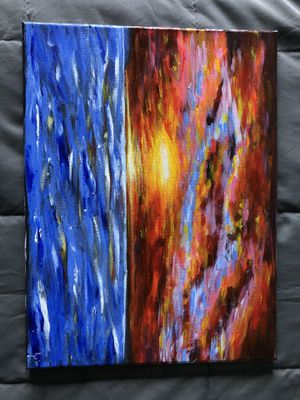 Horizontal Sunset Painting for Sale in Bolingbrook, IL