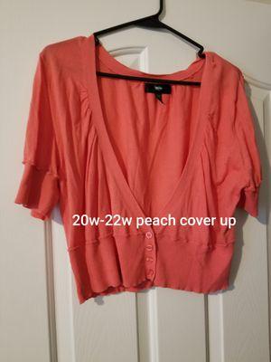 20w-22w peach colored half-body cover up for Sale in Murfreesboro, TN