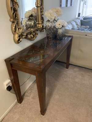 Solid wood and marble sofa table or console table for Sale in Aspen Hill, MD