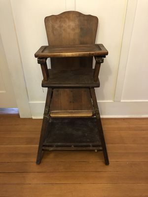Antique High Chair Convertible for Sale in Seattle, WA