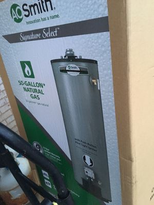 50 gallon gas water heater 9 yr warranty ( in box) 500$ for Sale in Rockville, MD