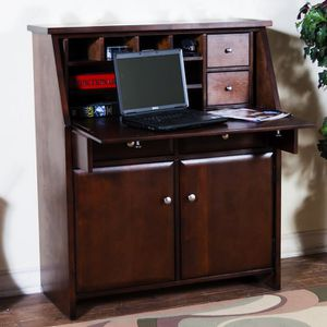 Brand new Solid Wood Cappuccino Secretary Desk. Home furniture household general living room Office business for Sale in National City, CA