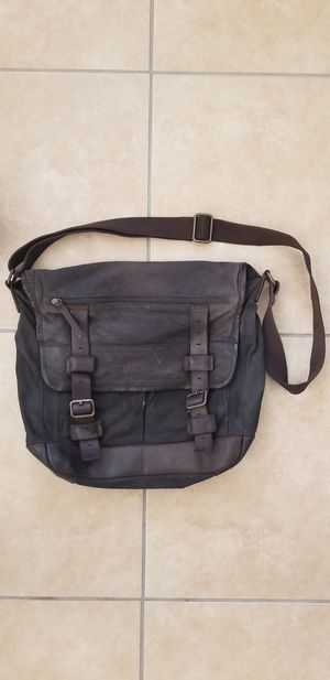 Black Rivet Messenger Bag Leather for Sale in Avondale, AZ