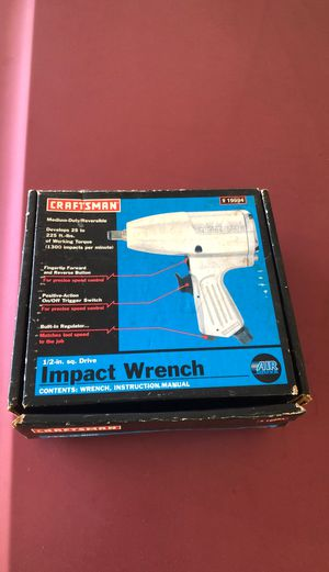 Craftsman half-inch drive impact wrench for Sale in San Antonio, TX