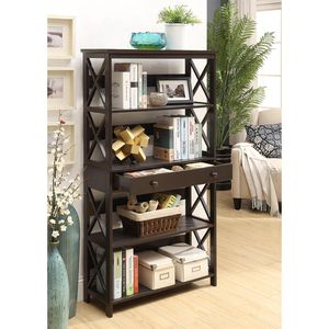 New Wood Bookshelf 5 Tier Organizer with Storage Drawer Display Shelf Book Nook for Office / Bedroom for Sale in Colorado Springs, CO