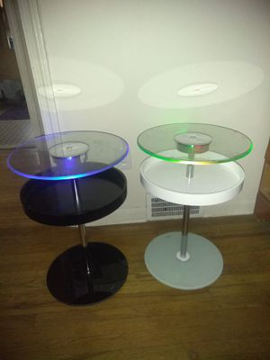 Glass light up tables for Sale in Philadelphia, PA