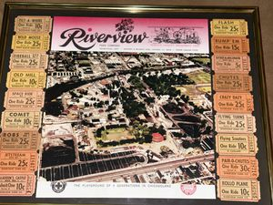 Framed Tickets from Rides at Chicago's Famed Riverview Amusement Park for Sale in Aloma, FL