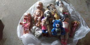 Vintage stuffed animals and dolls for Sale in Marietta, GA