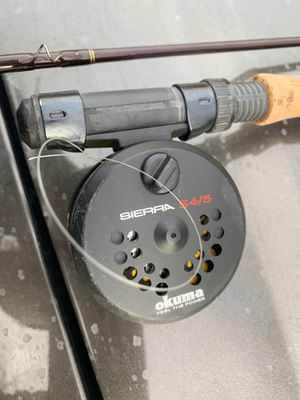 Okuna fly reel and Mitchell 9' pole for Sale in Oldtown, ID