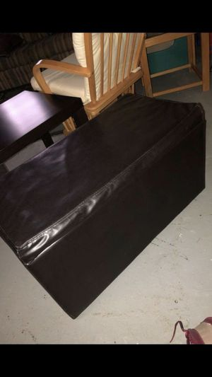 Faux leather ottoman for Sale in Southgate, MI