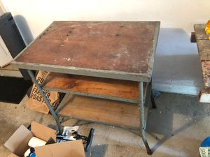 Wood / metal workbench for Sale in Wayland, MA