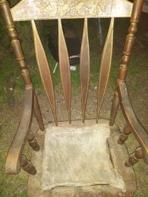 Old rocking chair the seat need to be redone steady rocking chair for Sale in Dupont, LA