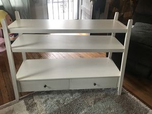 Tapered White 2 drawer console table for Sale in Moorestown, NJ