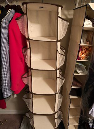 Hanging Canvas Closet Organizer for Sale in Riverview, FL