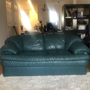 Teal Leather Loveseat for Sale in Washington, DC