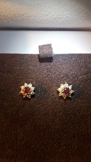 Antique 14k gold ruby and diamond earrings for Sale in Hillsboro, OR