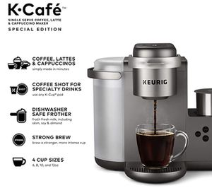 Brand New Keurig K-Cafe Special Edition Coffee Maker, Single Serve K-Cup Pod Coffee, Latte and Cappuccino Maker, Comes with Dishwasher Safe Milk Frot for Sale in Chicago, IL