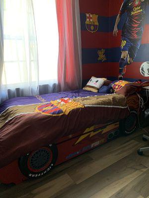 Lightning McQueen twin bed with memory foam mattress for Sale in Pembroke Pines, FL