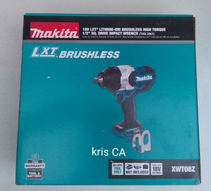 Makita brushless high torque impact wrench 18v for Sale in La Puente, CA