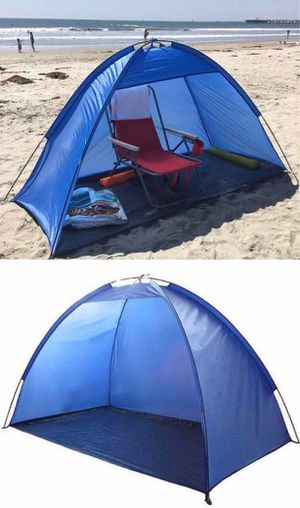New in box $15 each 7x3 feet beach tent sun shade 3 person use blue color for Sale in Baldwin Park, CA