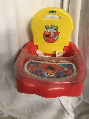 Sesame Street Elmo Adventure Booster Seat Gently Used for Sale in Las Vegas, NV