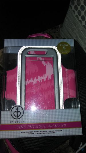 IPhone 5 sports band NEW pink** sweat resistant for Sale in Pompano Beach, FL