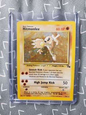 Hitmonlee 7/62 Fossil Set Holo Rare Pokemon Card for Sale in Indianapolis, IN