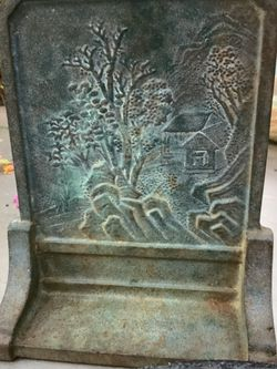 Vintage Japanese Cast Iron Bookend / Curio Display Plaque/ Doorstop for Sale in Marshall,  TX