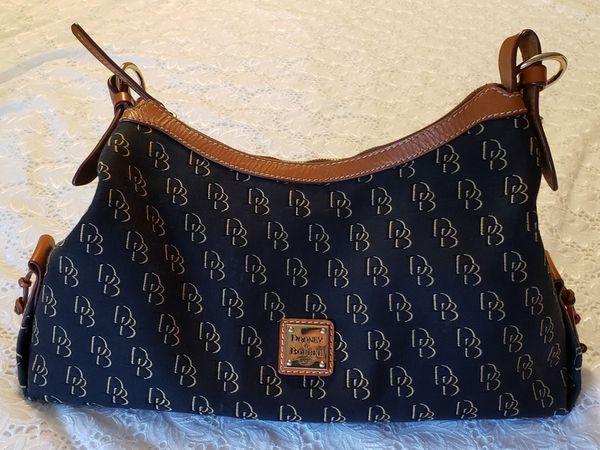 Dooney and Bourke Signature Canvas & Leather Shoulder Bag