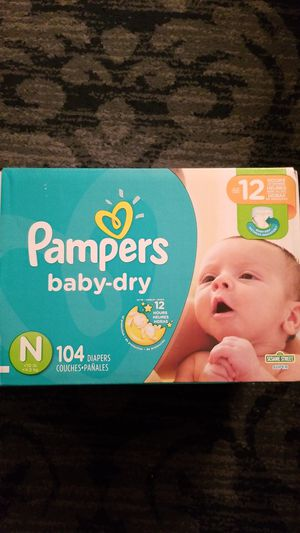 Pampers baby dry newborn 104 count for Sale in Clarksburg, MD