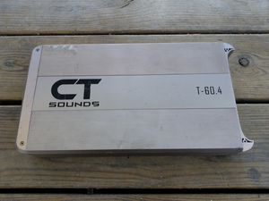 Ct sounds t-60.4 4 channels for bass, mids and highs amp for Sale in Humble, TX