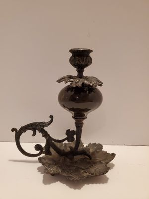Antique Cast Iron/Glass Candle Holder for Sale in Mesquite, TX