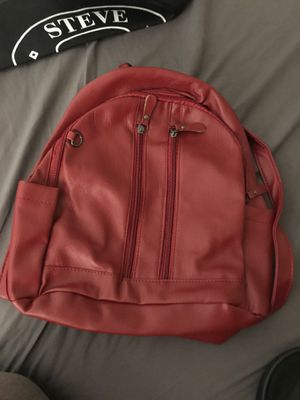 NEW Red Plain Retro Womens Rucksack Backpack for Sale in Rialto, CA