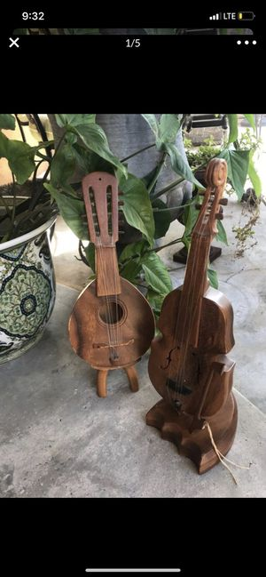 Wooden instruments - violin and guitar decor for Sale in Los Angeles, CA