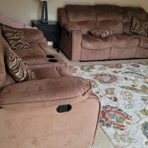 Light Brown Reclining Sofa Set for Sale in Issaquah, WA