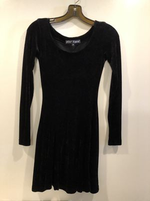 Betsey Johnson Rare VINTAGE BLACK Crushed Velvet SKATER Fit & Flare Dress Medium. So comfortable! Great for formal or prom.Great condition, smoke free for Sale in Washington, DC